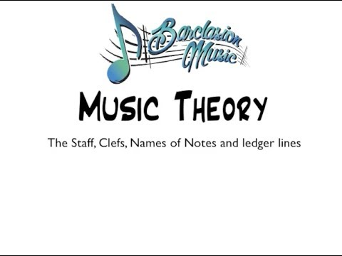 Music Theory - Staff, Clefs, Notes, and lines