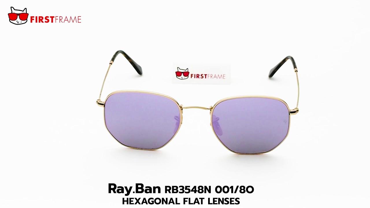 455af0eac7a3e RayBan RB3548N 001 8O HEXAGONAL FLAT LENSES. FIRST FRAME