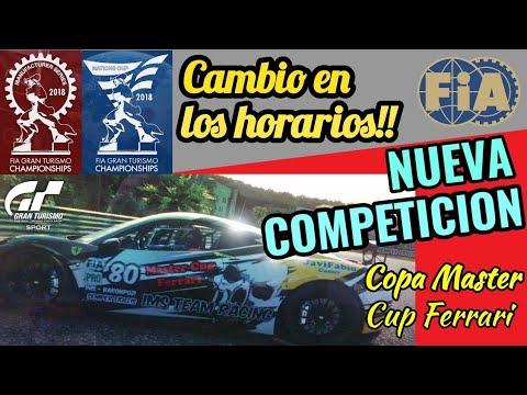 Gran Turismo Sport - Cambian horarios de carreras FIA | NUEVA COMPETICIÓN EN EL CANAL !! thumbnail