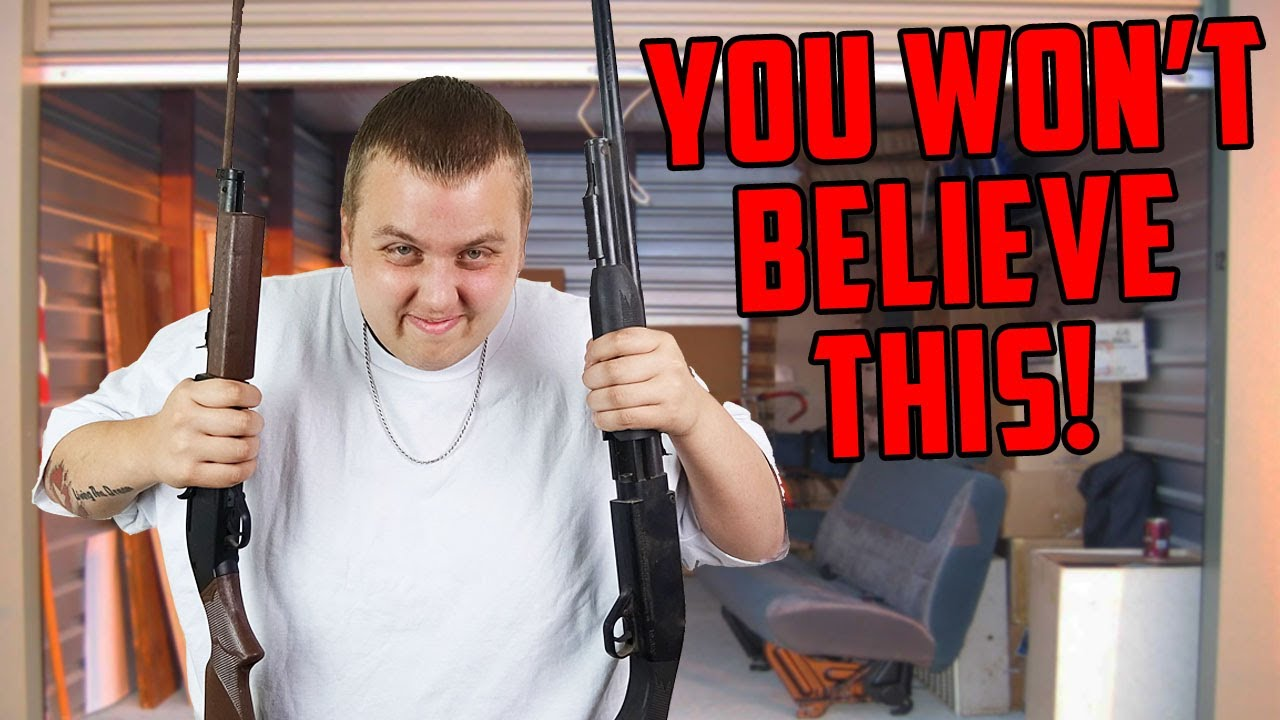 GUNS Found In Storage Unit! You Won't Believe What Else Was In Here! Guns Found In Storage!