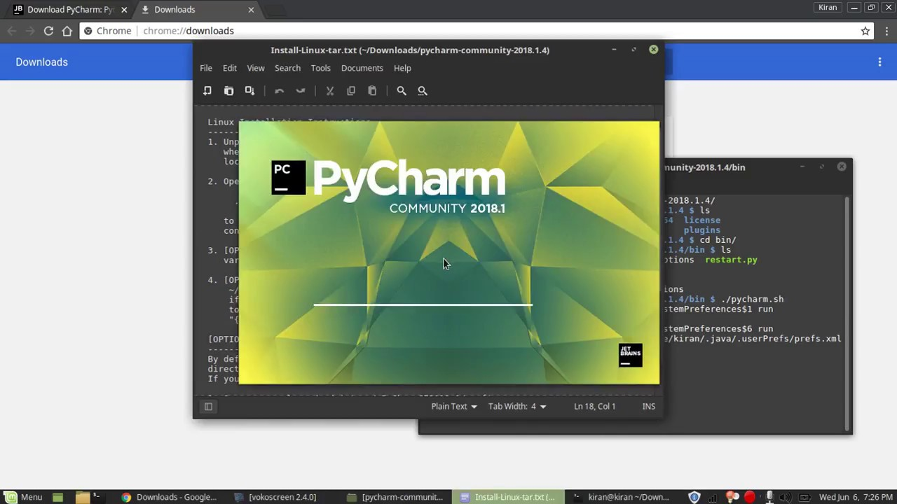 How to install pycharm/Setting up pycharm on linux