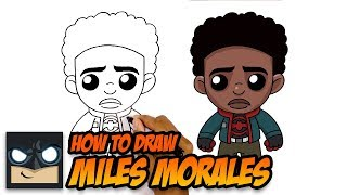 How to Draw Miles Morales | Spiderman Into the Spider-Verse