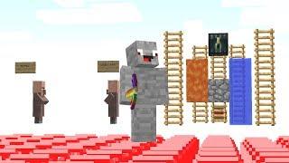 die ganze Base besteht aus Unsichtbaren Blöcken.. Minecraft LUCKY BLOCK BEDWARS