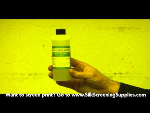 How to Screen Print - Chemicals Needed - Detailed instruction - Screen Printing 101 DVD pt 11