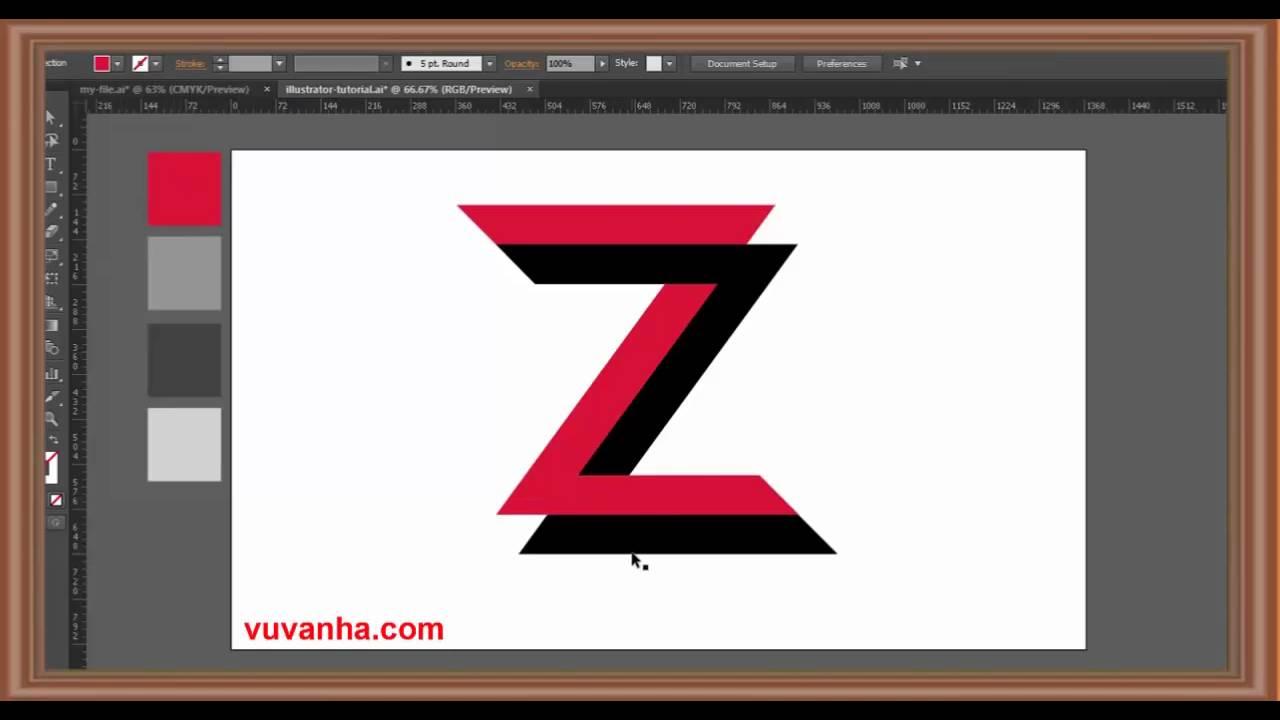 hướng dẫn thiết kế logo bằng illustrator – thiết kế logo bằng adobe illustrator (Phần 4)