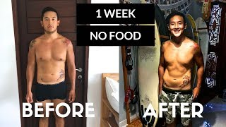 I ate NOTHING for a week !