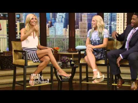 Heidi Klum on Live with Kelly and Michael 20150812 thumbnail