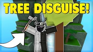 TREE DISGUISE TROLLING (ROBLOX SUPER POWER TRAINING SIMULATOR)