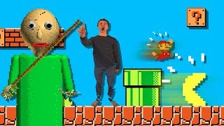 BALDI vs Pacman and Super Mario Bros