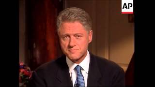 President Bill Clinton address the nation after his grand jury testimony and apologizes for lying ab