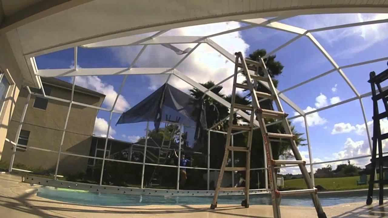 Rescreening Pool Enclosure TimeLapse by Mr Screen Repair  YouTube