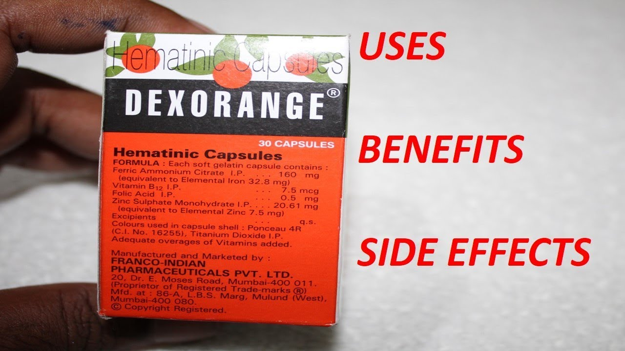 Dexorange Capsule Review Hindi Uses Side Effects And Benefits By