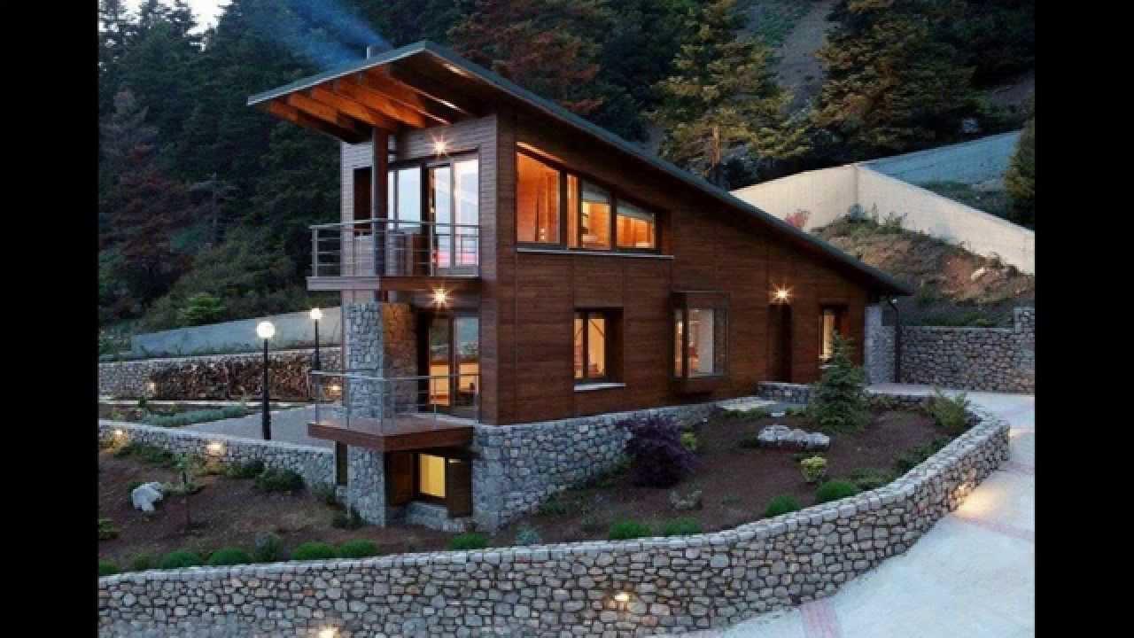 Комбинированные дома из камня и дерева: 51 проект - YouTube