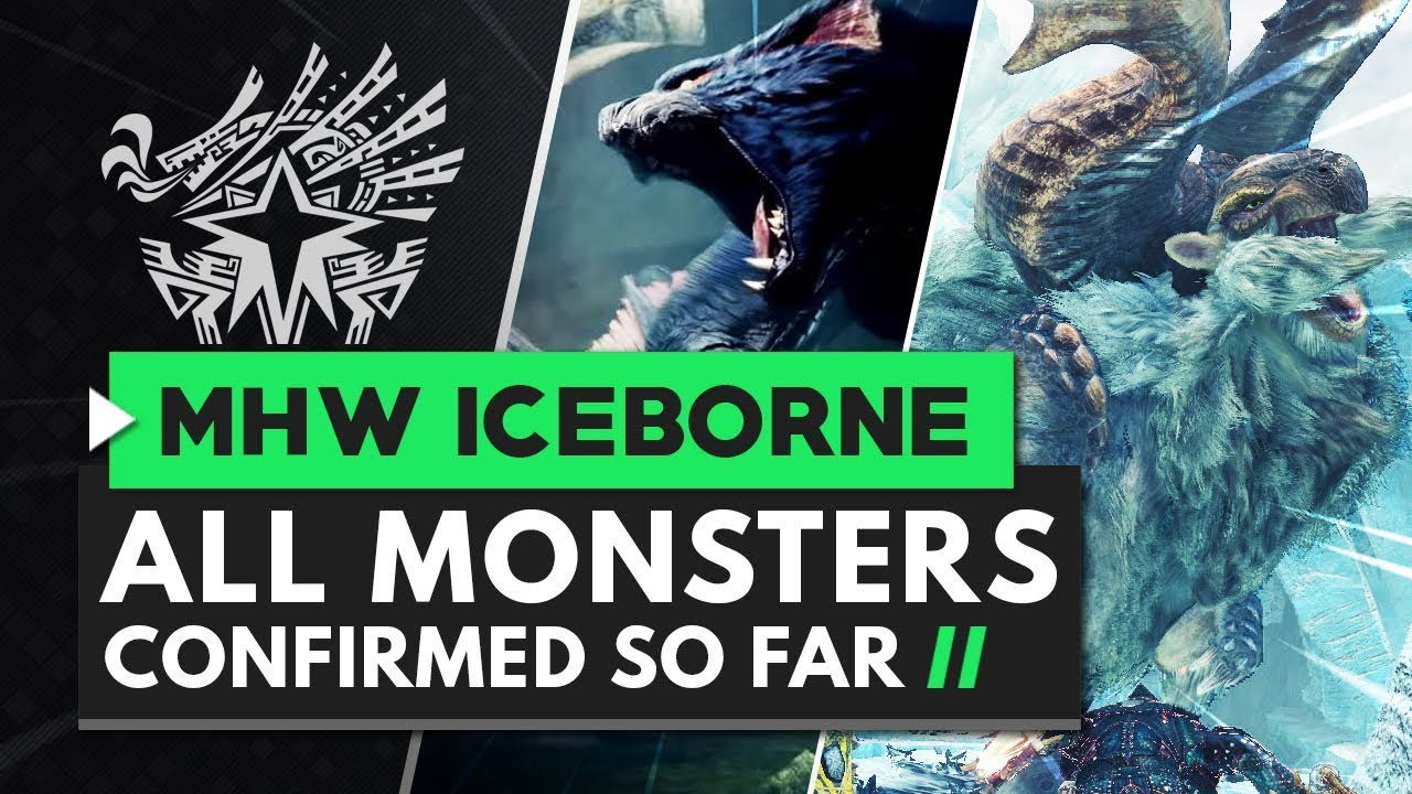 Monster Hunter World Iceborne | All Monsters Confirmed So Far thumbnail