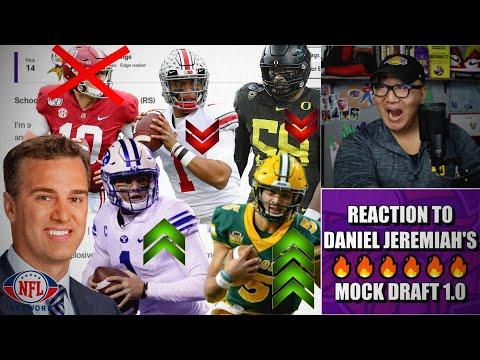 Reaction to Daniel Jeremiah's Mock Draft 1.0... WHAT?!?!? 🔥🔥🔥