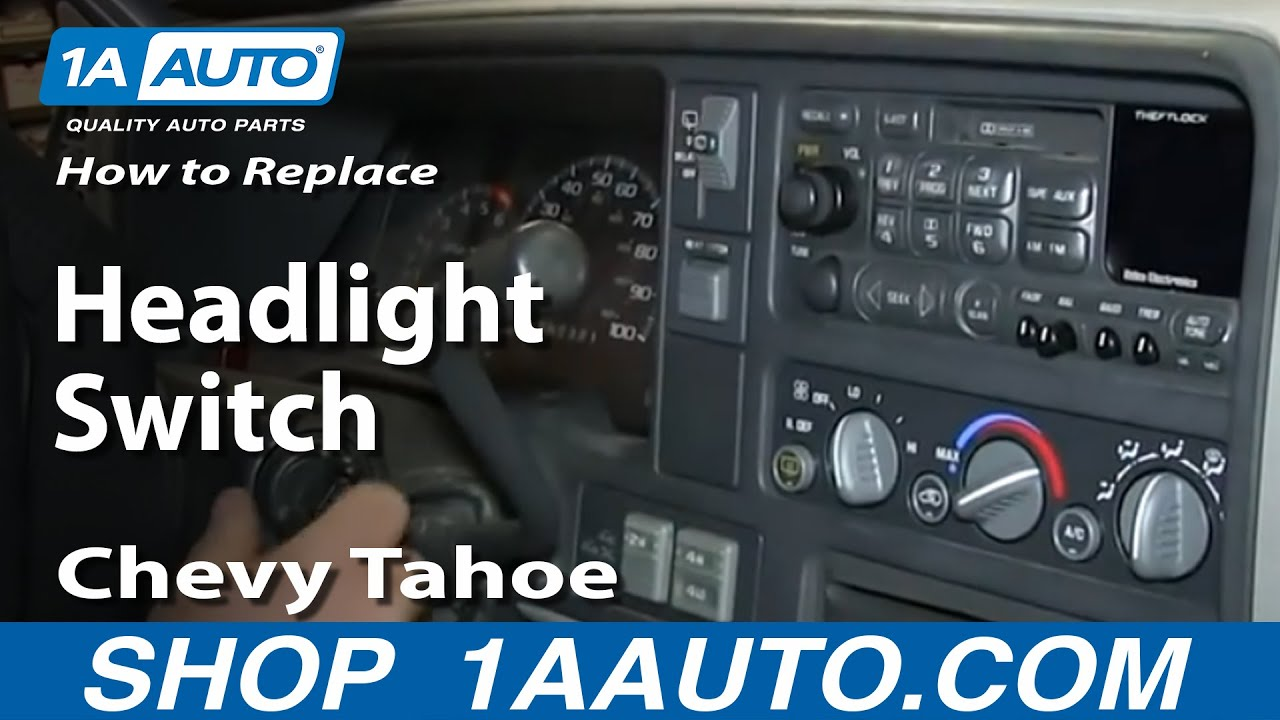 How To Install Headlight Switch 1996 99 Chevy Gmc Pickup Tahoe 2001 3500 Brake Light Wiring Youtube Premium