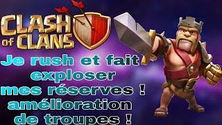 JE COMBINE FARM ET RUSH ! RESSOURCES DE OUF ! [LIVE CLASH OF CLANS FR] #2