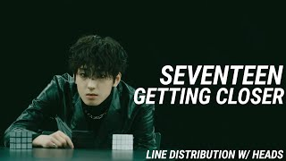 "Seventeen ""Getting Closer"" Line Distribution w/Heads"