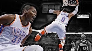 Russell Westbrook: Top 5 Alley Oop Dunks from KD Video