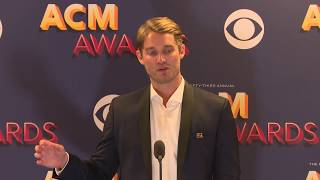 Brett Young Talks About His New Male Vocalist of the Year Award at the ACMs