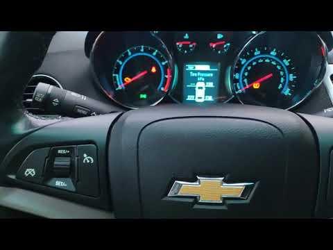 Обучение и привязка колёс с датчиком давления TPRS на Chevrolet Cruze 2014 USA