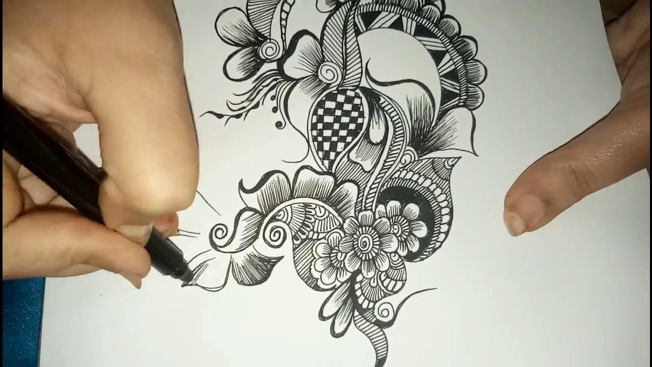 mehndi ka design drawing