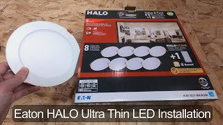 Eaton Halo Ultra Thin LED Light Installation