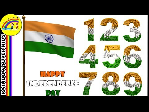 Happy Independence Day Wishes - 3D Numbers with Color Balls