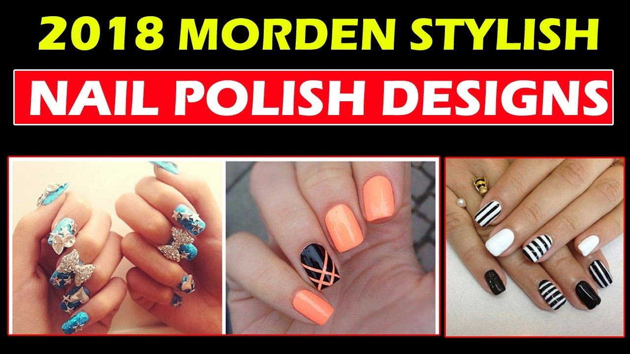 Stylish nail polish designs with multi colors 4 youtube stylish nail polish designs with multi colors 4 prinsesfo Image collections