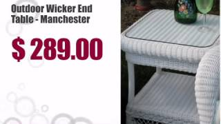 Outdoor Wicker End Table - Manchester - Wickerparadise.com