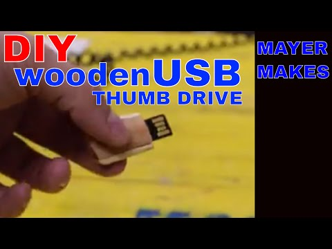 DIY Wooden Thumb Drive , Beech and Bamboo | MAYER MAKES
