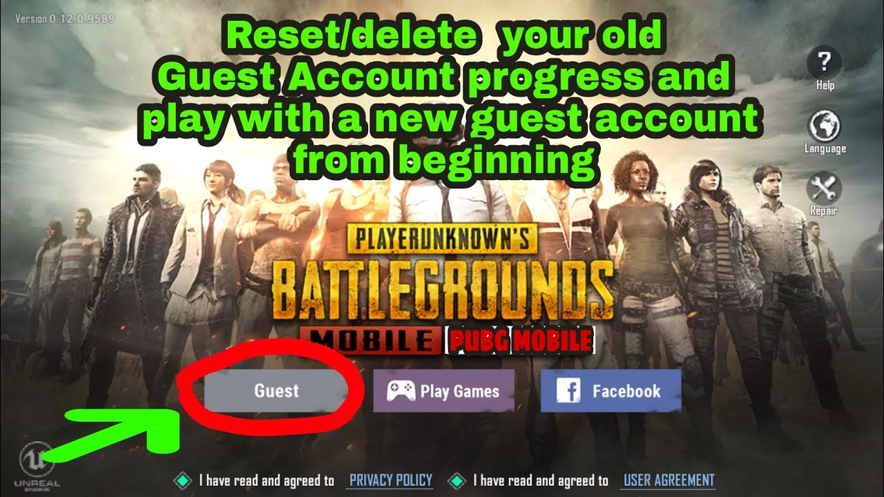 How to reset guest account on pubg mobile(root required)