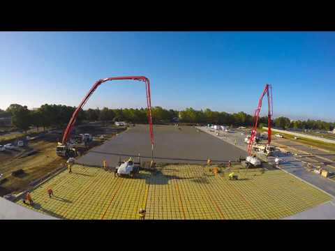 Full Huge Concrete Pour at Jelly Belly HD