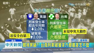 20190921中天新聞 中央「八仙過海」盯韓 藍:台南破獲率最低怎不管