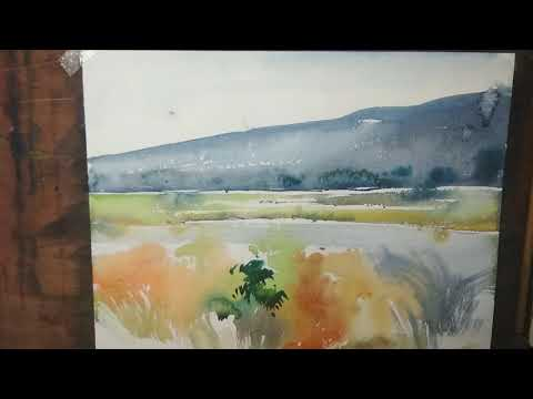 Very simple and beautiful landscape watercolor painting tutorial for beginners | art explain