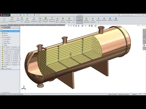 Solidworks tutorial | Sketch Heat Exchanger in Solidworks