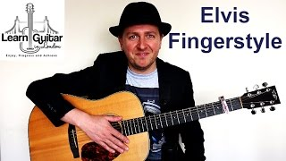 Elvis - I Can't Help Falling In Love With You - Fingerstyle Guitar Instrumental - FREE TAB - Part 1