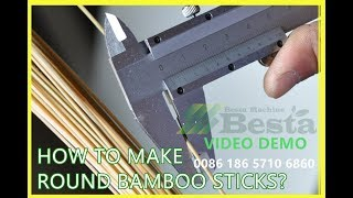BAMBOO STICK MAKING MACHINE Video-complete line (NEW)