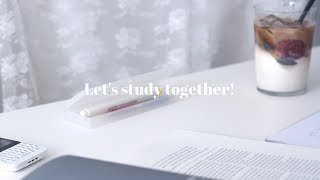 ☕️ ASMR 카페에서 같이 공부해요! Studying at the cafe | no talking, 공부집중, 백색소음, 노토킹