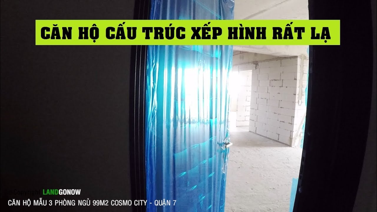 Căn hộ thô Cosmo City 99m2 3 phòng ngủ, Quận 7 – Land Go Now ✔