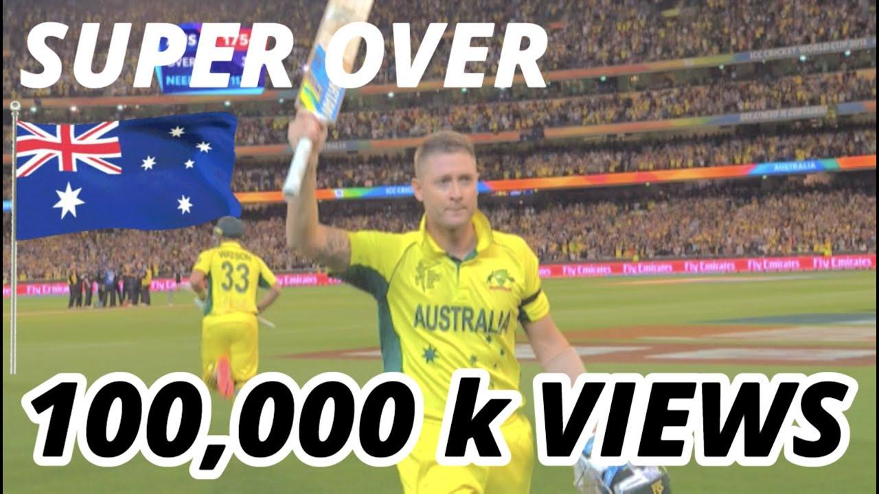 d6a9119e1bc8 ICC Cricket World Cup Finals 2015 - Australia vs New Zealand - Winning  moment at MCG
