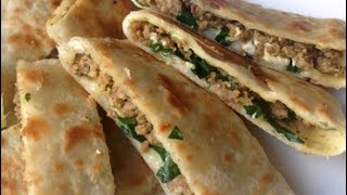 Best Lamb Gozleme Turkish Crepe Turkisk Crepeเครปเนื้อสัตว์터키어 크레페crepe Turco土耳其绉