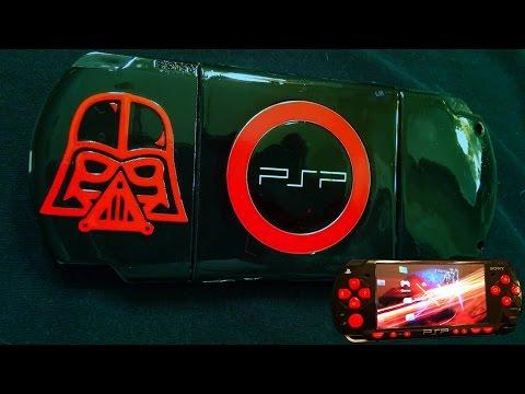 CUSTOM BLACK AND RED DARTH VADER EDITION PSP 2000