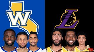 NBA Live Stream:  Golden State Warriors Vs Los Angeles Lakers (Live Reaction & Play By Play)