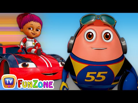 Thumbnail: Learn Colours with Race Cars & Surprise Eggs Car Toys - ChuChu TV Funzone 3D Motorsports