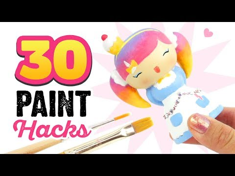 30 DIY PAINT HACKS!!! Your Ultimate Guide for Using Acrylic Paint in DIYs, Painting, & Crafting!