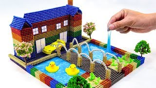 DIY How To Make Rainbow House, Swimming pool, With 99.000 Magnetic Balls, Slime Surprise Balls