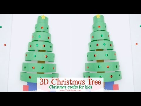3d Paper Christmas Tree Christmas Crafts For Kids Youtube