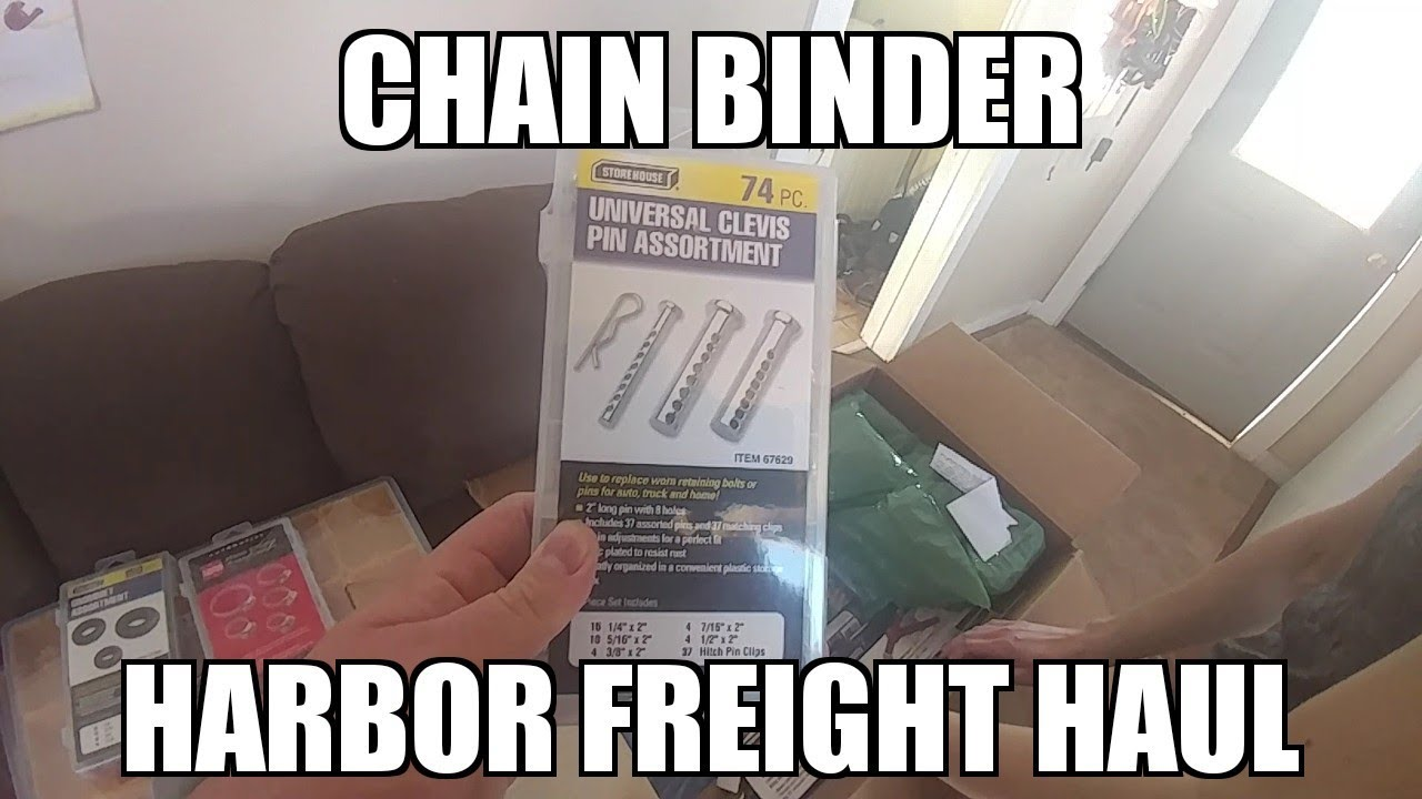 Harbor Freight Haul Chain Binder For Our Plow Set Up Youtube