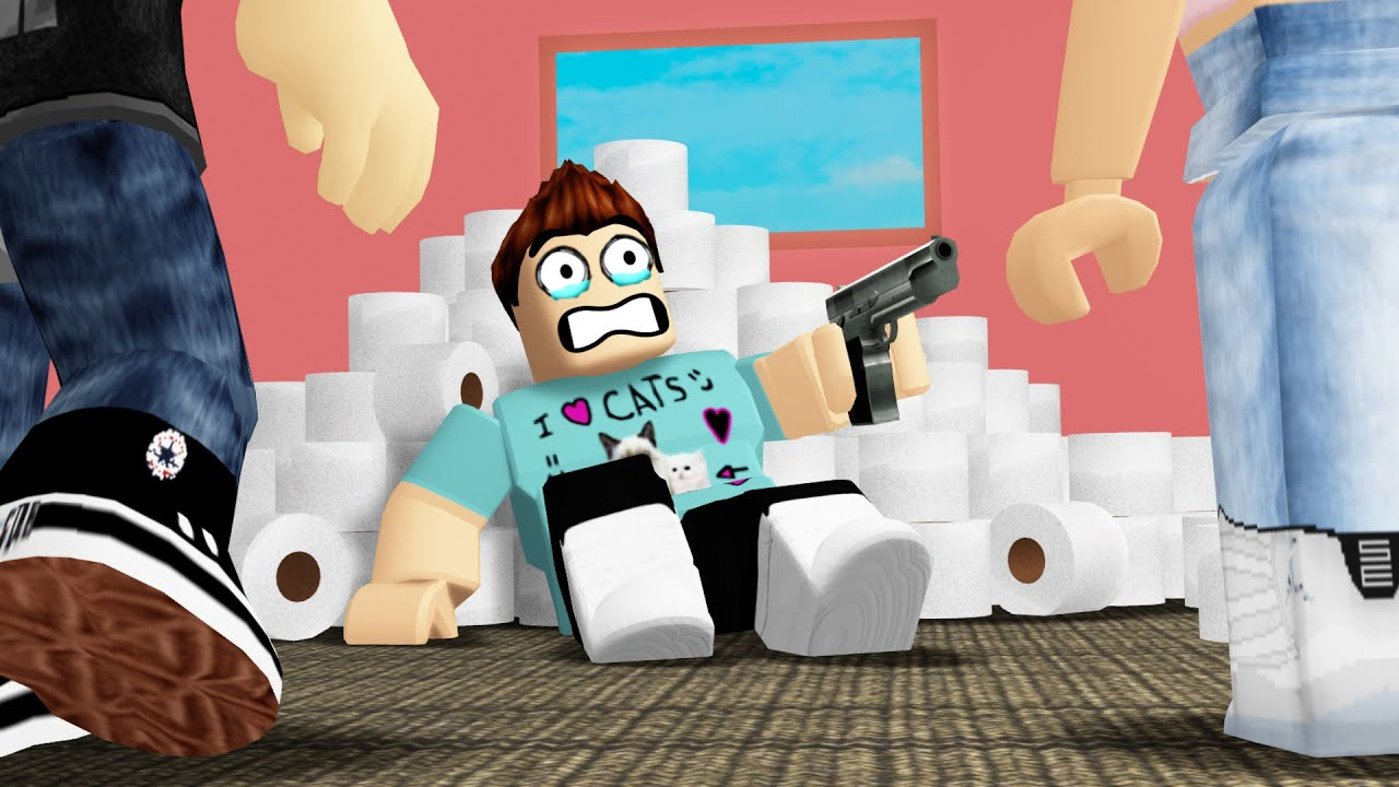 Protecting My Toilet Paper In Roblox Youtube